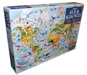 Picture of World, The - Atlas & Jigsaw Puzzle (IR)(300 pcs)