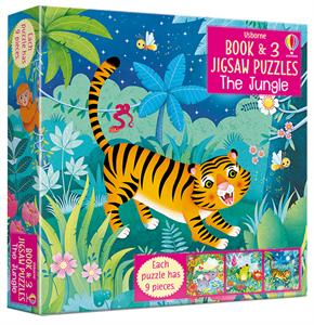 Picture of Jungle, The - Book & 3 Jigsaw Puzzles (3 x 9pcs)