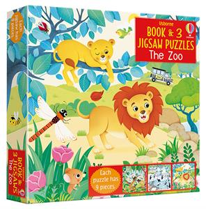 Picture of Zoo, The - Book & 3 Jigsaw Puzzles (3 x 9pcs)