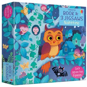 Picture of Nighttime - Book & 3 Jigsaw Puzzles (3 x 9pcs)