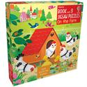 Picture of On the Farm - Book and 3 Puzzles (3 x 9pcs)