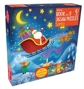 Picture of Santa - Book & 3 Jigsaw Puzzles